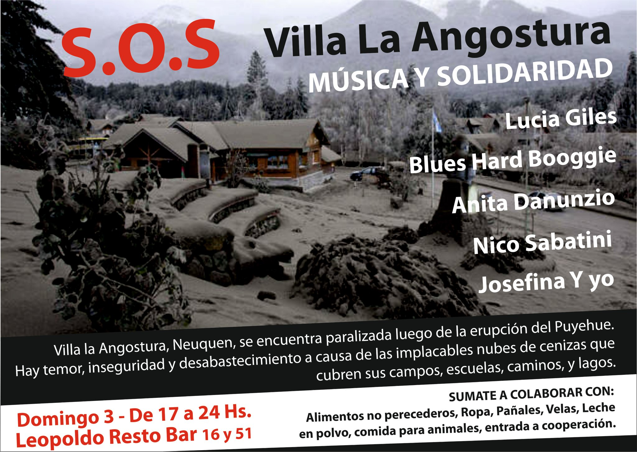 Música y solidaridad por Villa La Angostura