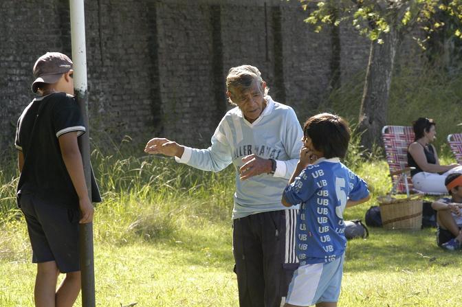 El ángel del fútbol infantil