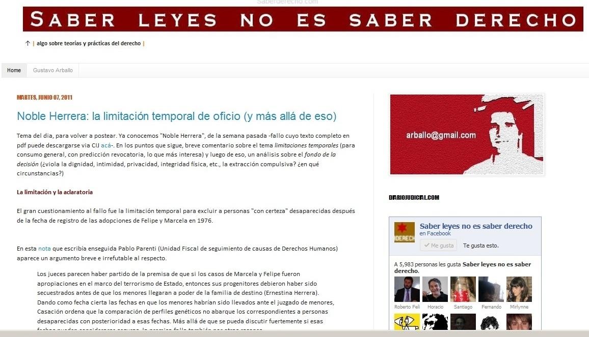 Web: Saber leyes no es saber derecho