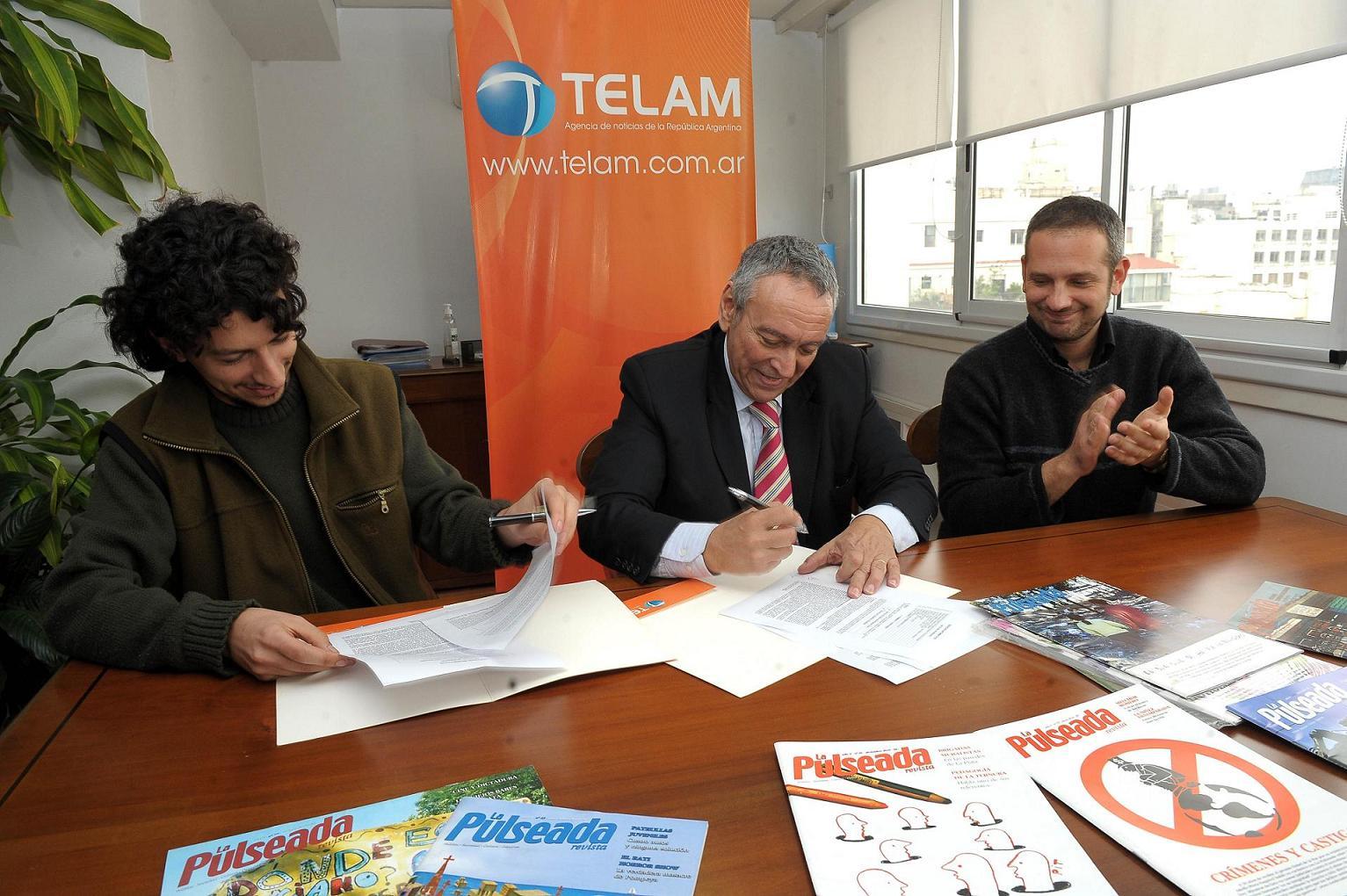 Firmamos un convenio con Télam