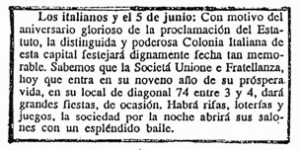 Diario El Día, 5 de junio de 1892