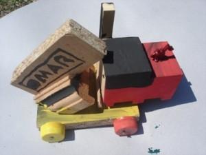 Cuando estaba en situacion de calle, Omar participó de talleres. Le gustaba hacer cosas con madera