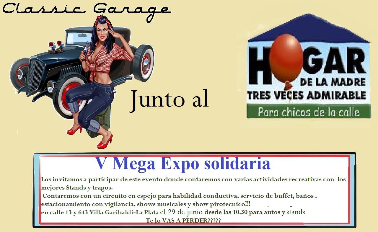 Exposición solidaria de autos en el Hogar de Cajade