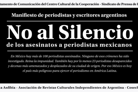 """AReCIA acompañó la presentación del """"Manifiesto No al Silencio"""""""