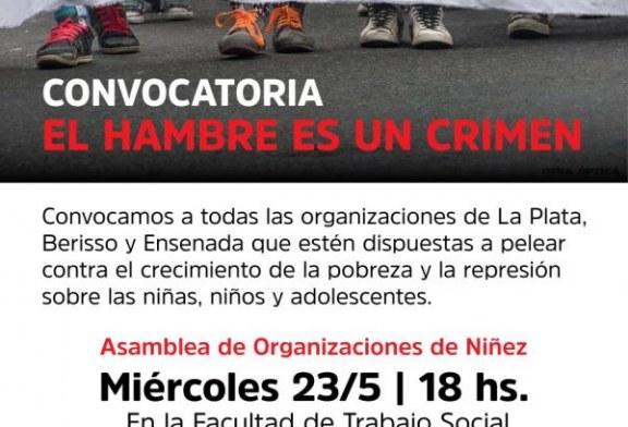 Nueva reunión hacia la 3ra marcha El hambre es un crimen
