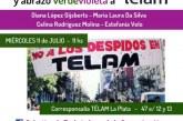 Conferencia de prensa en la corresponsalía de Télam