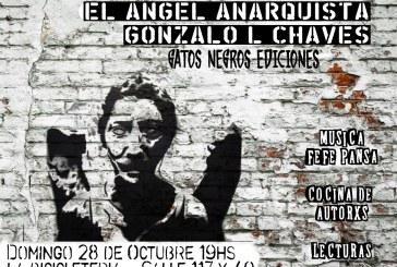 """Se presenta """"El ángel anarquista"""", de Gonzalo Chaves"""