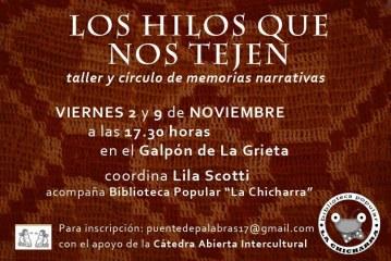 Un taller-círculosobre «memorias narrativas»