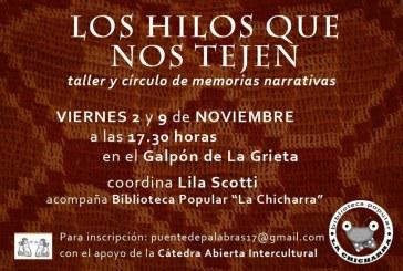 "Un taller-círculosobre ""memorias narrativas"""