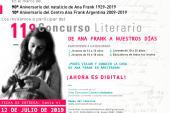 """11° Concurso Literario """"De Ana Frank a nuestros días"""""""