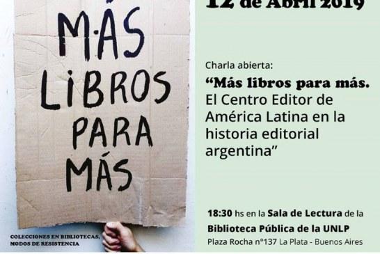 """Charla abierta """"Más libros para más"""""""