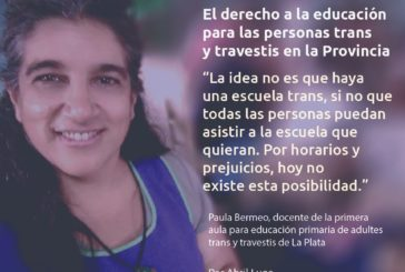 Ni una menos en la escuela ¿Qué pasa con el derecho a la educación para las personas trans y travestis en la Provincia?
