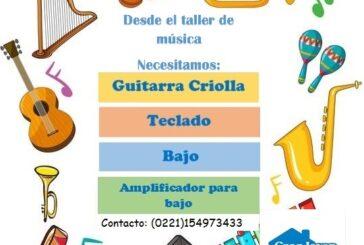 El taller de música de Casa Joven necesita instrumentos